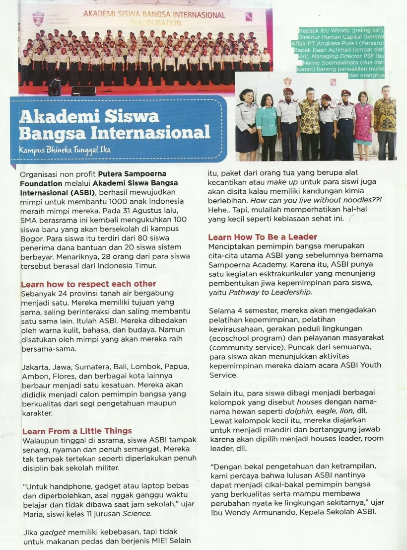 Aneka Yess - ASBI Kampus Bhineka Tunggal Ika - 27 Sept 2013